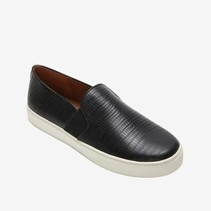 VINCE.   Black Lizard Embossed Skate Shoes